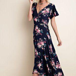 1.4.3. Story Women's Floral Print Faux Wrap Dress